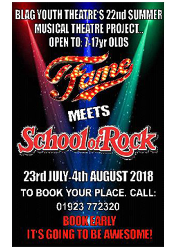 Fame meets School Of Rock poster